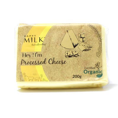 HAPPY MILK - ORGANIC PROCESSED CHEESE 200GM