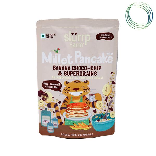 SLF BANANA CHOCO CHIP MILLET PANCAKE MIX 150GM