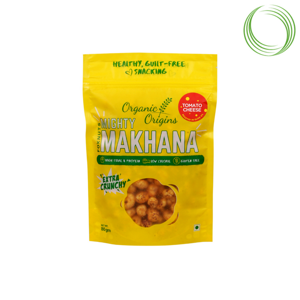 OO MAKHANA TOMATO AND CHEESE POUCH 80 GMS