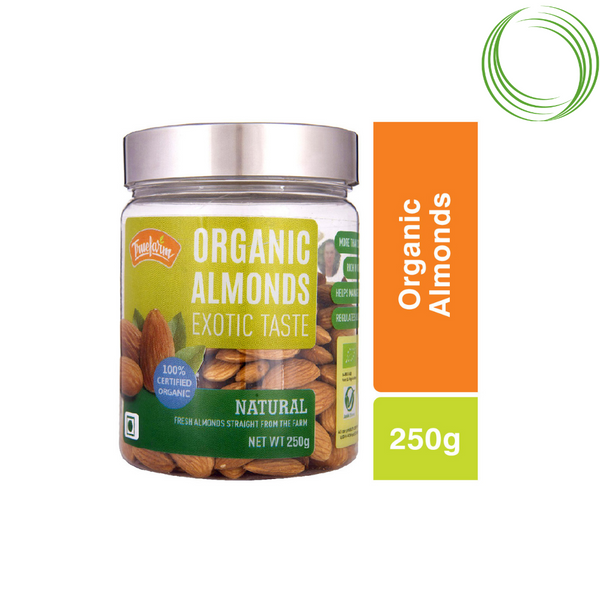 TRUEFARM ORGANIC ALMONDS   250GM