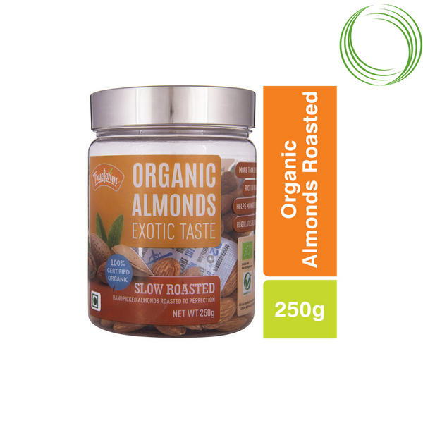 TRUEFARM ORGANIC ALMONDS ROASTED