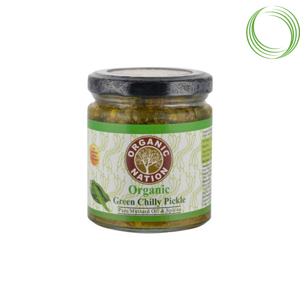 ORGANIC NATION PICKLE GREEN CHILLI 200GM