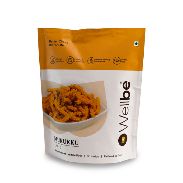 WELLBE PLAIN MURUKU 180GM