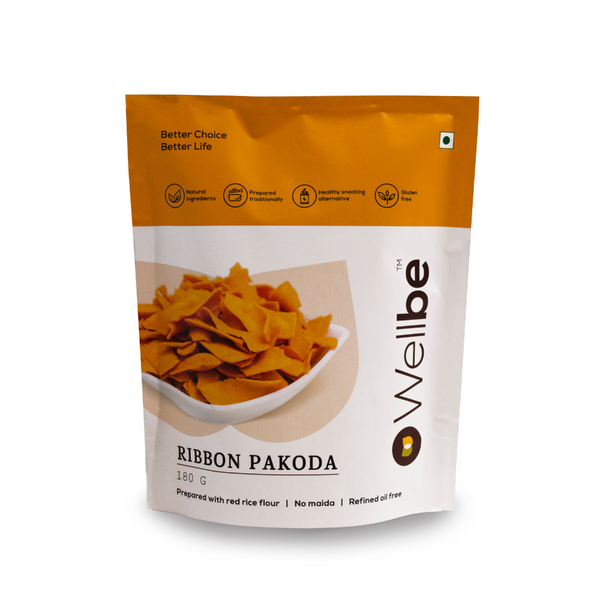 WELLBE RIBBON PAKODA 180GM - Buy any 2 Wellbe Snacks & get 1 Snack Free