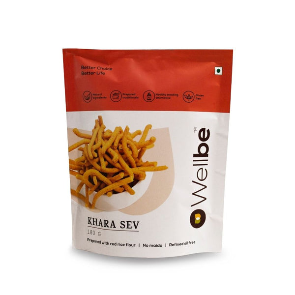 WELLBE KHARA SEV 180GM - Buy any 2 Wellbe Snacks & get 1 Snack Free