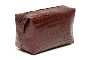 Toiletry Case Alligator Belly
