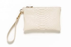 "Mini Clutch ""Python"" with Wristlet"