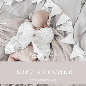 Bonne Mere store gift vouchers for baby showers and new mums