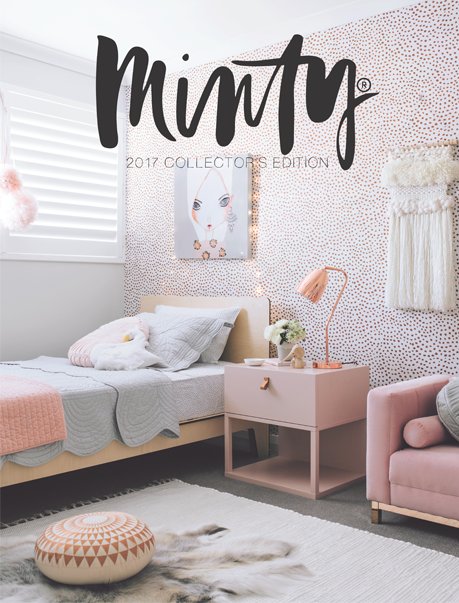 Bonne mere bedding featured on the cover of Minty magazine
