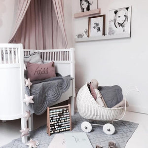 Beautiful baby girl nordic style nursery