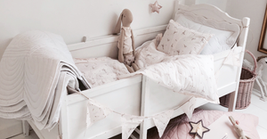 Beautiful nordic style cot bedding