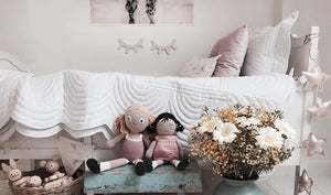 Little girl pretty nordic room