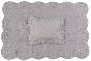 Bonne Mere cot quilt and pillow set elephant grey