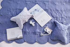 Bonne Mere Single quilt and pillow set Denim