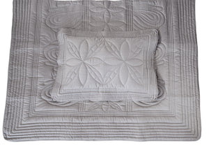 Bonne Mere King Single quilt and pillow set Elephant grey