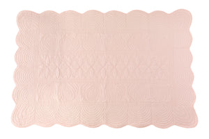 Bonne Mere King Single quilt and pillow set Shell pink