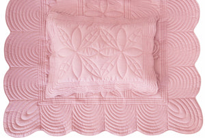 Bonne Mere Single quilt and pillow set Rose