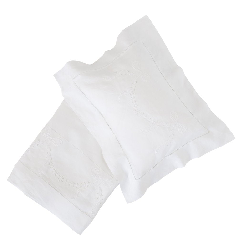bonne mere white pure linen bassinet sheet sets