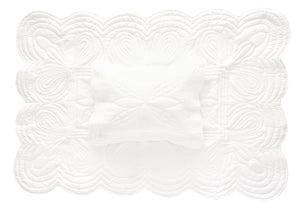 Bonne Mere cot quilt and pillow set chalk