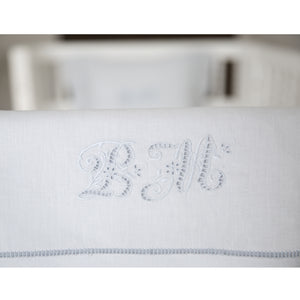 bonne mere azure mist pure linen bassinet sheet sets