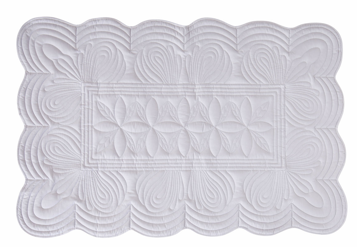 Bonne Mere baby cot quilt and cushion Dove