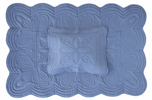 Bonne Mere Cot quilt and playmat Denim