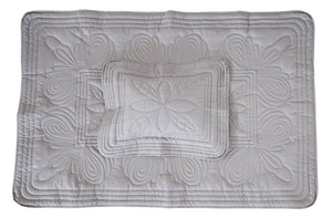 Bonne Mere baby cot quilt and cushion set Elephant grey
