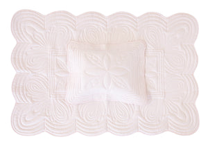 Bonne Mere cot quilt set and playmat Powder