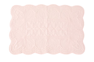 Bonne Mere baby cot quilt and cushion set shell pink