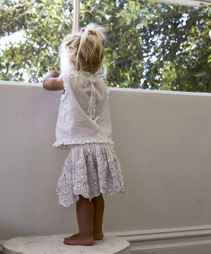 sequin hearts white sparkle skirt for girls