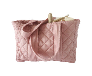 Bonne mere nursing bag for all mothers needs in colour rose
