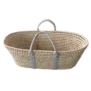 Bonne mere quilted moses basket cover in dove