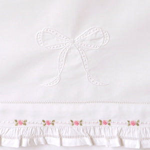 bonne mere rosebud embroidered bassinet sheet set