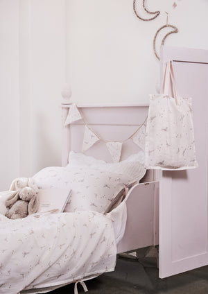 sippy print single doona set and bonne mere bedding for first big girl bed