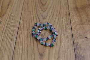 "Four Stone ""Magical"" Bracelet with Rose Quarts, Aventurine, Amethyst and Clear Quartz Crystal Chips"