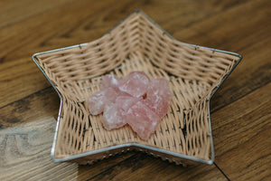 Beautiful Rough Rose Quartz Crystals