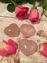 Load image into Gallery viewer, Beautiful Rose Quartz Hearts