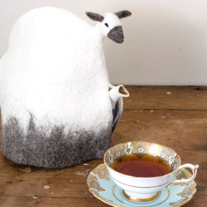 Felted Wool Sheep Tea Cozy - Large