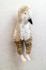 Elsie - textile bird sculpture - SOLD