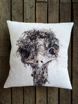Linen Emu decorator cushion
