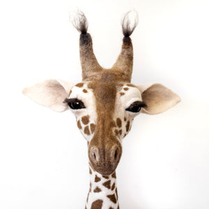 Marjorie -  Felted Giraffe Sculpture