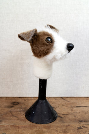 Myrtle- Jack Russell Felted Dog Sculpture