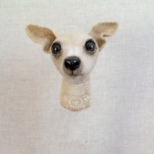 PEARL - Italian Greyhound Felted Sculpture