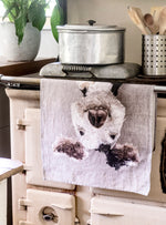 Porteus the Pig Tea Towel