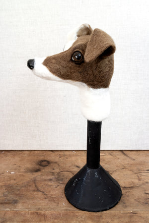 Ruthie -  Felted Jack Russell Dog Sculpture - SOLD