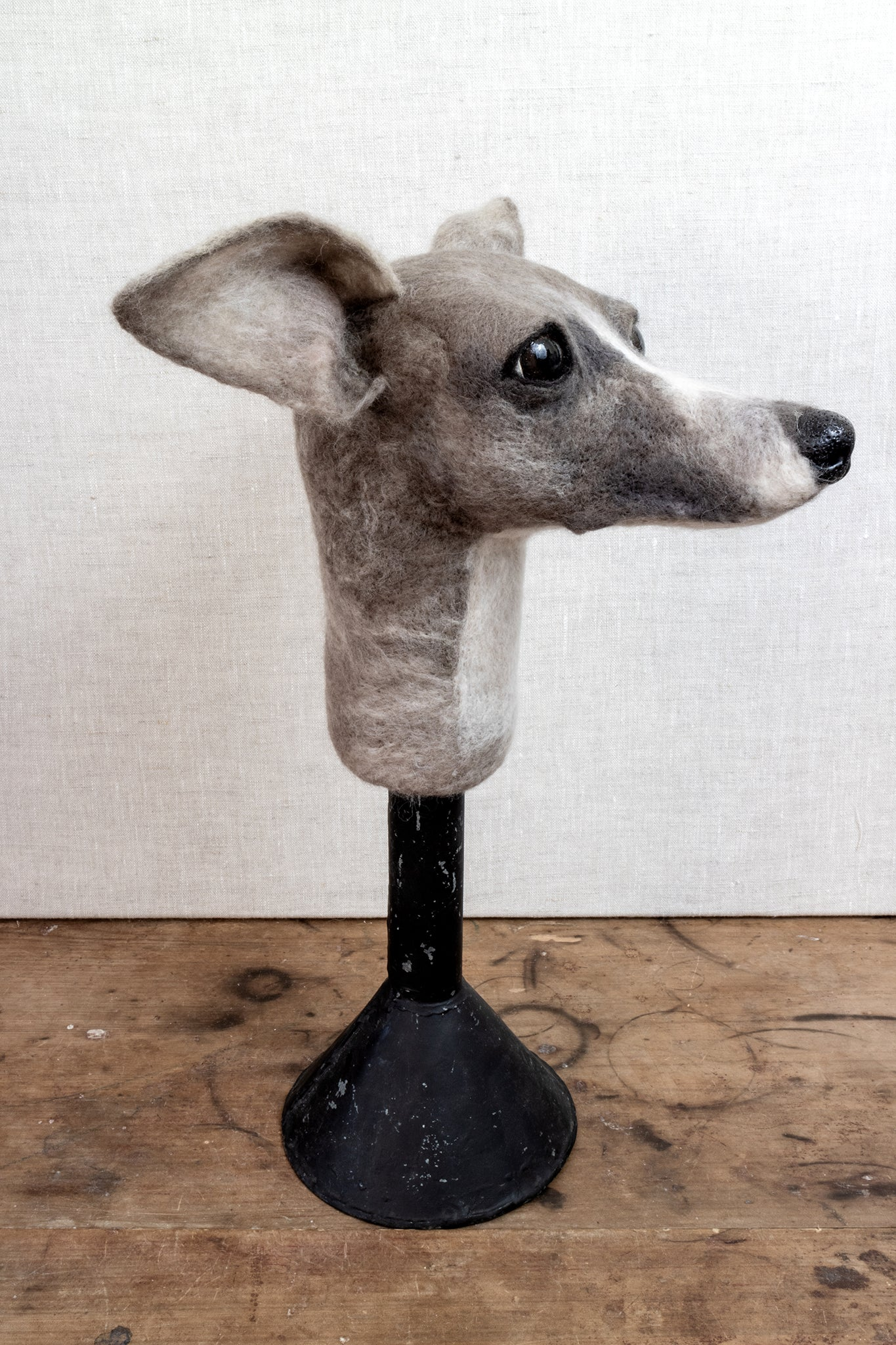 Vernon - Whippet Felted Dog Sculpture