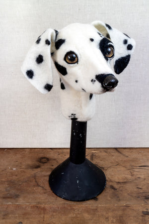 Wilma -  Felted Dalmation Dog Sculpture - SOLD