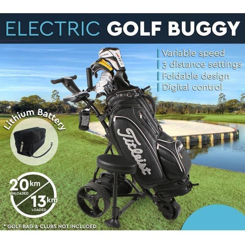 Electric Golf Buggy with Lithium Battery in Black