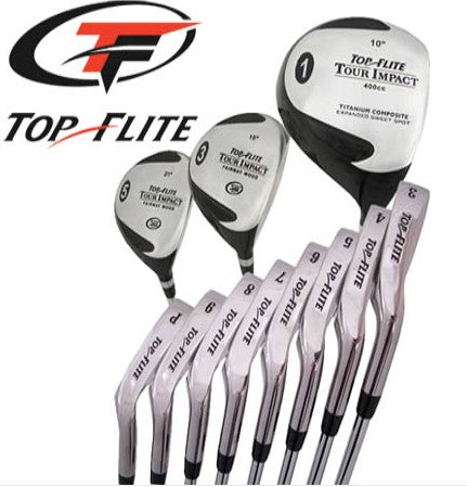 Top Flite Golf Complete Club Set Tour Impact Steel Mens Right Hand