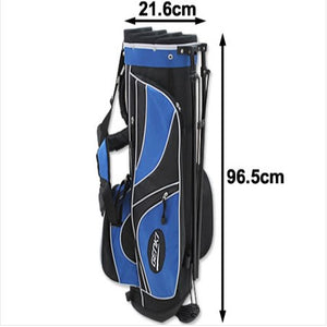 Genki Mens Right Hand Golf Club Set with Golf Stand Bag - Blue
